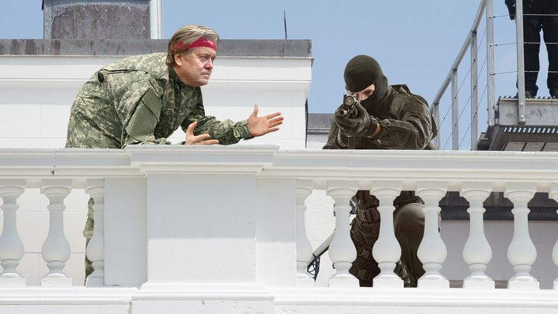 Illustration for article titled Taking Charge: Steve Bannon Volunteered To Take A Few Shifts From The Sniper On The White House Roof