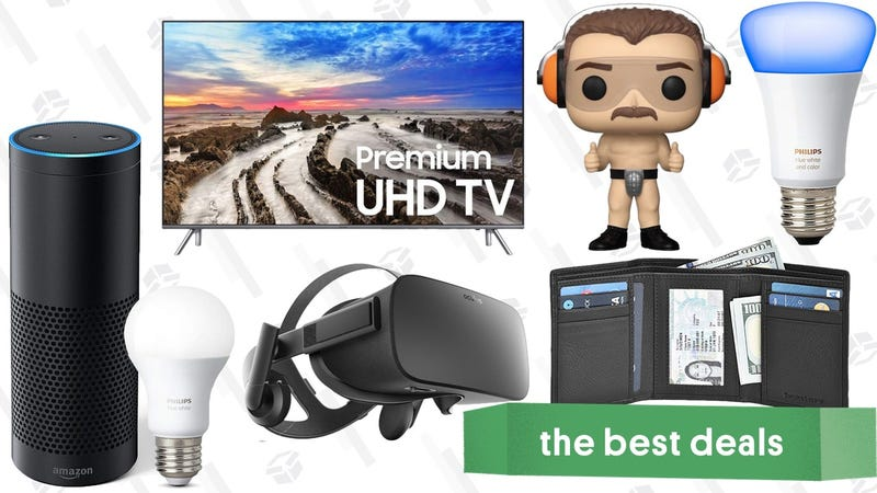 """Illustration for article titled Sunday's Best Deals: 82"""" Samsung TV, Funkos Under $5, Philips Hue Bulbs, and More"""