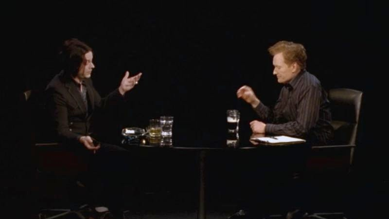 Illustration for article titled Watch Conan O'Brien and Jack White have a surprisingly serious conversation
