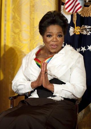 Oprah Winfrey addresses lesbian rumors.