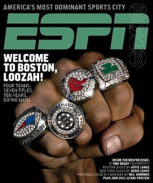Illustration for article titled ESPN The Magazine Invites You To Read An Entire Issue About How Good Boston Sports Teams Are