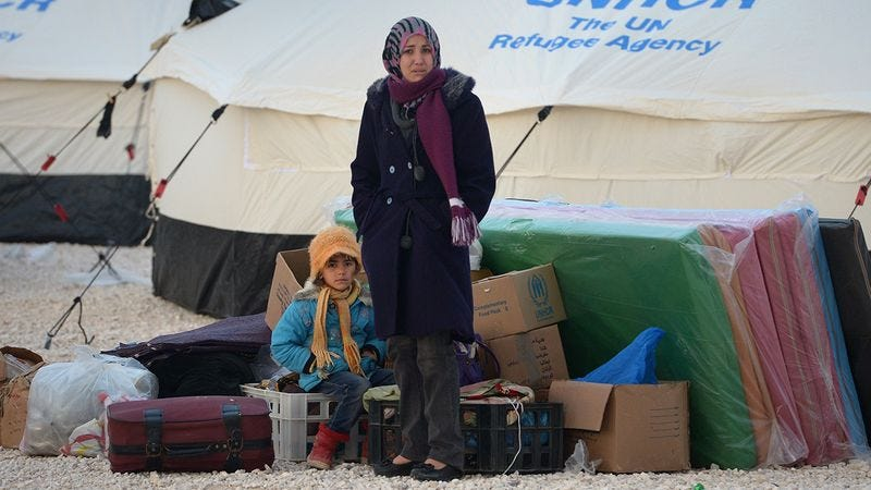 Illustration for article titled 8 Heartbreaking Photos Of Syrian War Refugees, Also, Sorry, We Do Not Know How To Stop This Steel Drum Music From Auto-Playing