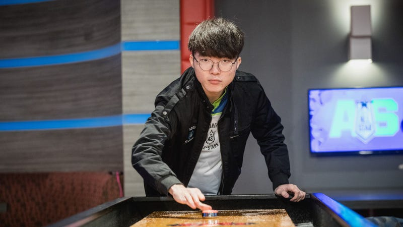 Faker, playing a different game but likely still dominating. Image credit: LoL Esports/Flickr