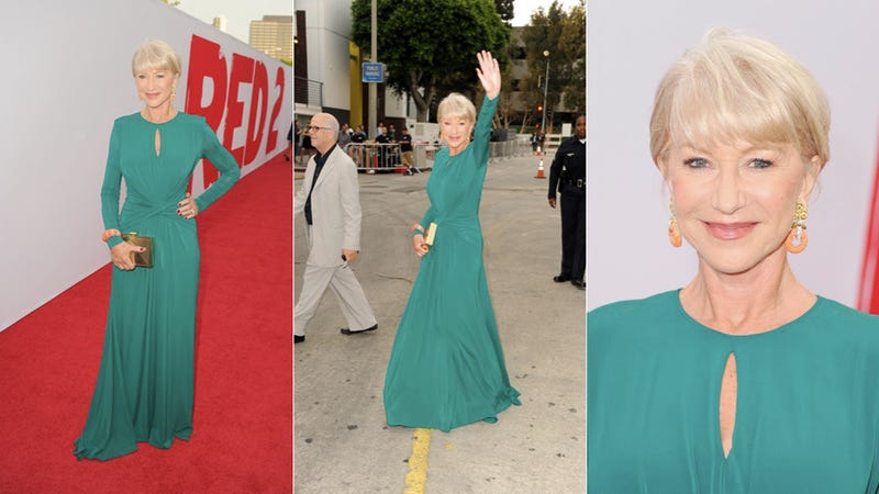 Illustration for article titled Dame Helen Mirren Is a Tall Drink of Water
