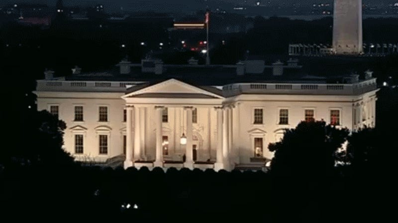 Mystery Of The Flickering Red Lights In The White House Grips The Internet