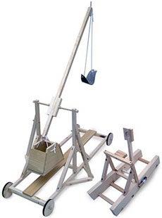 Illustration for article titled Mini Catapult and Trebuchet Kits