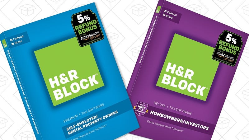 H&R Block Software Gold Box