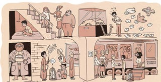 Illustration for article titled The Harry Potter books, each outlined as a poster-sized comic