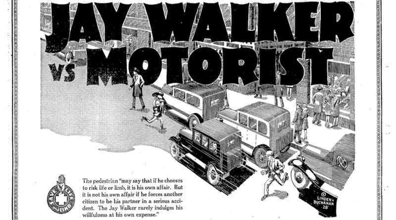Illustration for article titled The Invention of Jaywalking Was a Massive Shaming Campaign