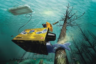 Illustration for article titled Let's Start the Offshore Logging Lobby with Robots