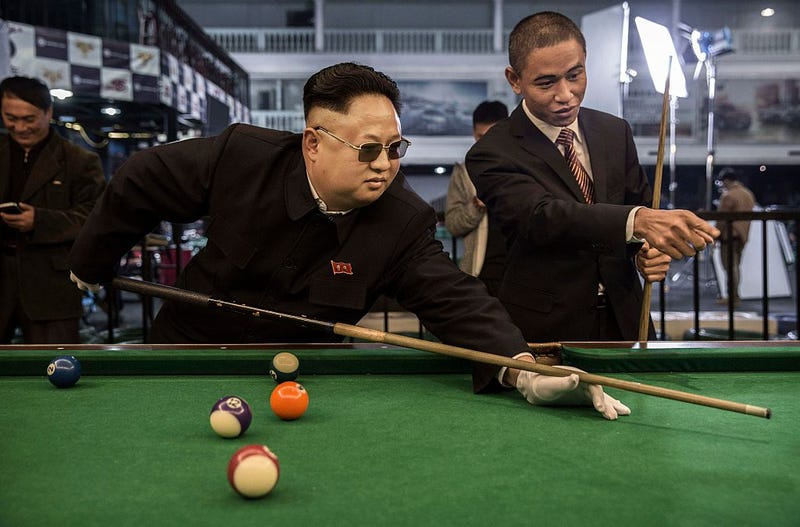 PIctured: Not the real President Obama or Kim Jung Un. (Photo: Getty images).