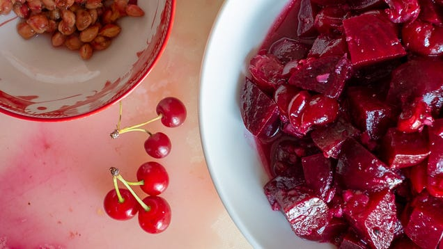 This Beet and Sour Cherry Salad Is a Study In Contrasts