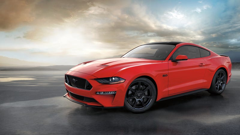 A car that is not the 10 millionth Ford Mustang, but is a Ford Mustang.
