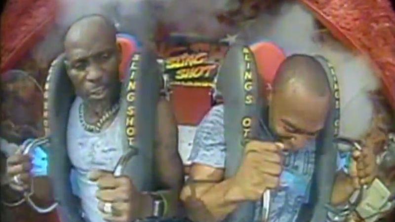 Illustration for article titled Video of DMX on a slingshot ride proves he just makes those DMX noises involuntarily