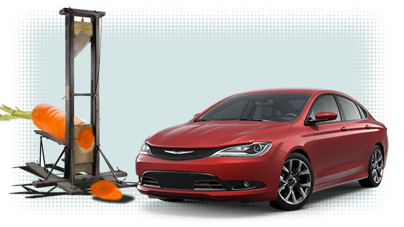 Illustration for article titled Sergio Marchionne Is Chopping Dicks Over The Chrysler 200