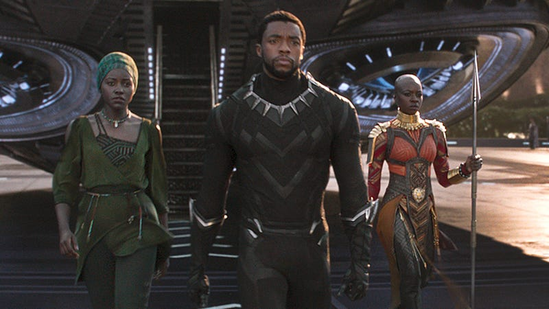 Lupita Nyong'o, Chadwick Boseman and Danai Gurira in Black Panther (Marvel Studios)