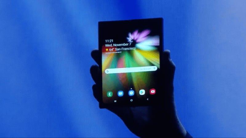 Resultado de imagen para Samsung presenta su primer teléfono plegable, pero no revela su diseño