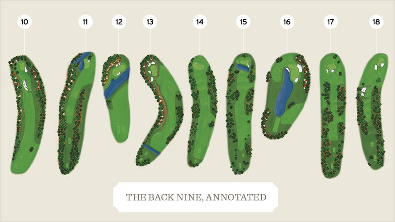 Illustration for article titled The Greatest Shots On Augusta's Back Nine In Masters History