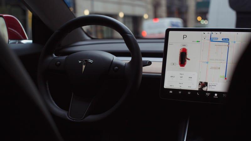 Inside a Tesla Model 3