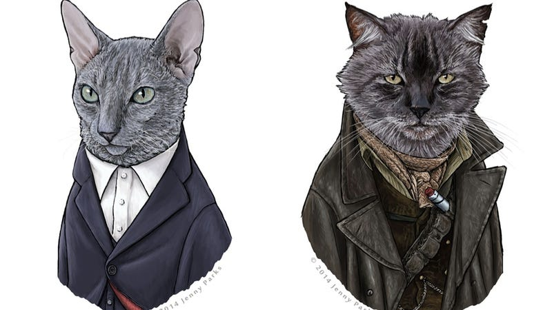 Illustration for article titled Doctor Mew returns, with War Cat and Capaldi Cat