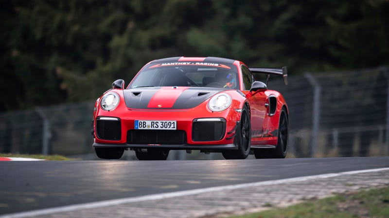 Illustration for article titled Porsche Sets New Nürburgring Record With Road Legal But Not-At-All-Stock 911 GT2 RS MR