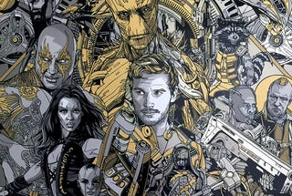 Illustration for article titled All I want for Xmas is this giantGuardians of the Galaxymetalposter