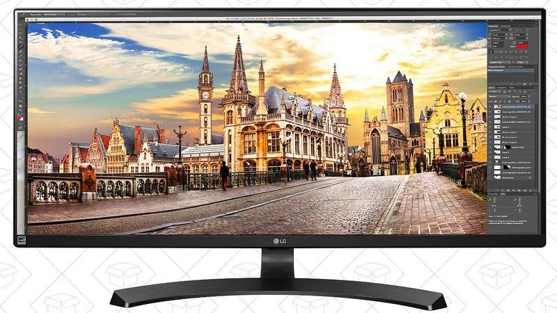 """LG 34"""" 21:9 LED Monitor, $375"""