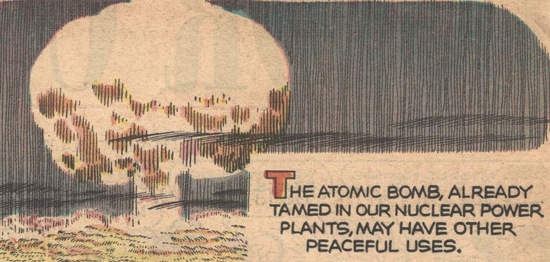 Illustration for article titled This 1960s Comic Strip Claimed Nuclear Explosions Were the Future of Road Construction