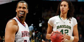 Jason Collins (Kevin C. Cox/Getty Images); Brittney Griner (Doug Pensinger/Getty Images)