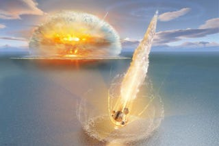 Illustration for article titled A Double Meteor Impact Hit Sweden 468 Million Years Ago
