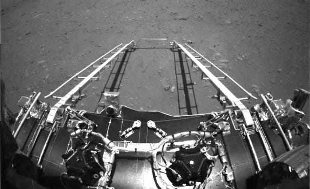 China's Zhurong Rover Sends Back Its First Images of Mars
