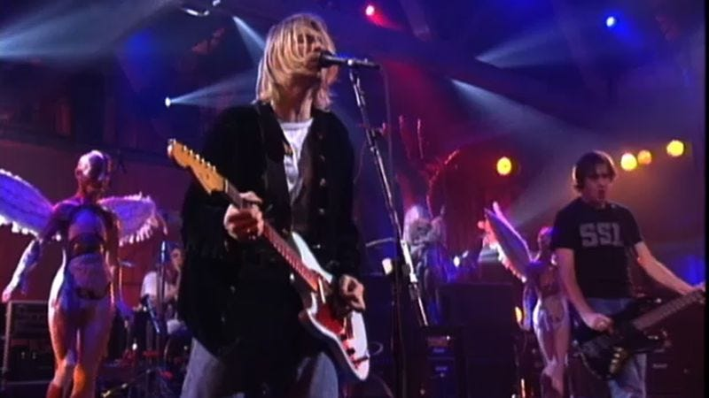 Nirvana live on MTV
