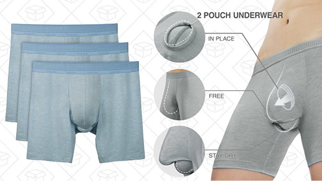 Avoid Summer Stickiness With This Dual-Pouch Underwear, Now $5 Off