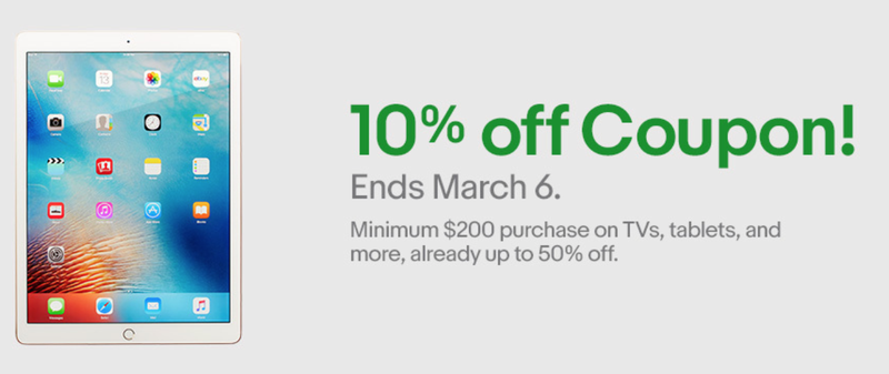 Extra 10% off electronics. Maximum $100 discount.