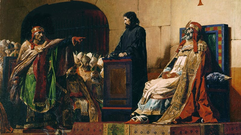 Pope Formosus And Stephen VII by Jean-Paul Laurens