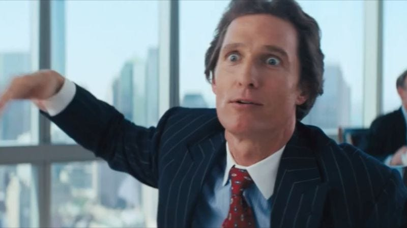 Matthew McConaughey's Wolf Of Wall Street chest thump gets ...