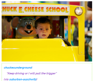 Illustration for article titled Chuck E. Cheese doesn't fuck around.