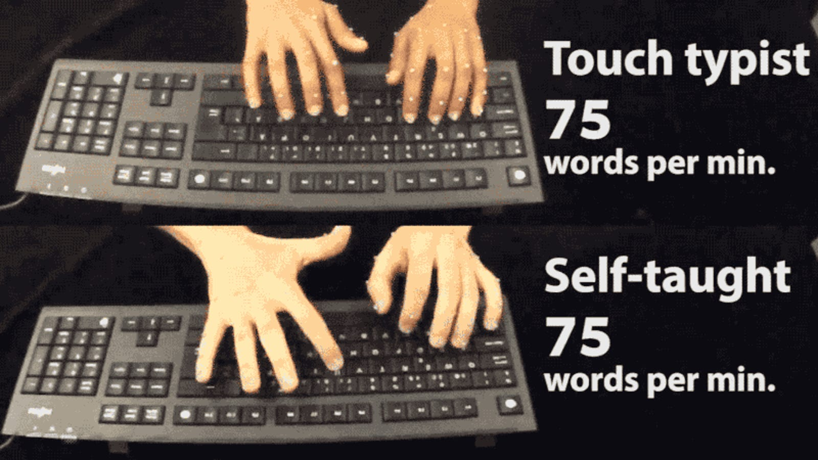 Your Stupid-Ass Typing Style Might Not Actually Be So Bad