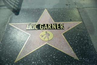 Eric Garner's star on the Hollywood Walk of FameINDECLINE