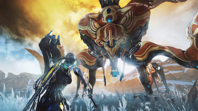 Among other things, Warframe's next big open world area will include giant enemy spider robots.
