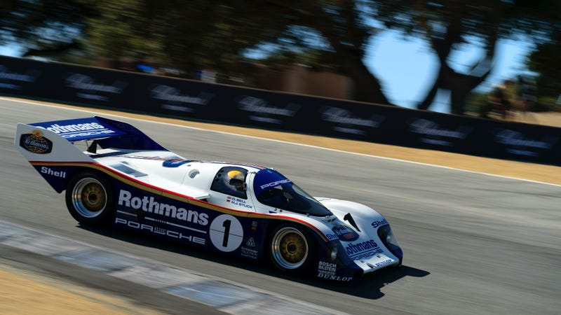 "Oh yes. The onerous ""Laguna Seca"" mufflers come off this weekend because it is a violation of an unspoken, unwritten, yet universally accepted law that the Porsche 956 must be experienced at full volume."