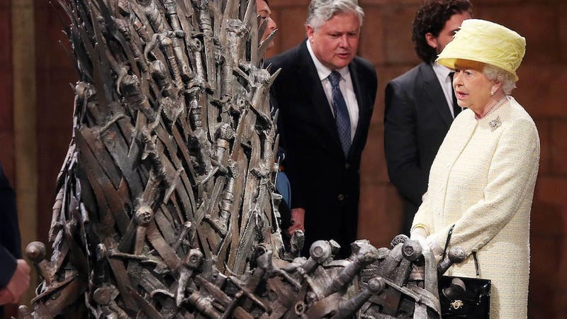 Illustration for article titled Here's Why Queen Elizabeth Didn't Park Her Butt on the Iron Throne