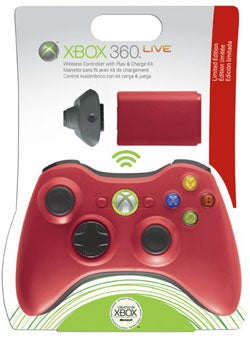 Illustration for article titled Xbox 360 Controller, in Red!