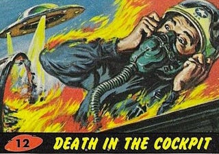 Illustration for article titled The Hyperviolent Trading Cards That Inspired Tim Burton's Mars Attacks!