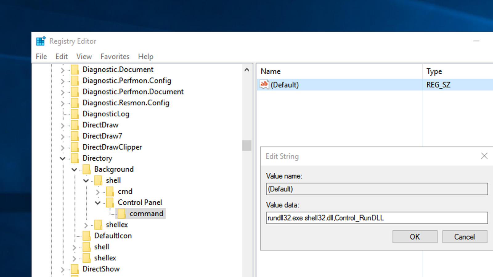 Add Control Panel (Or Any Program) To Your Right-Click Menu With a