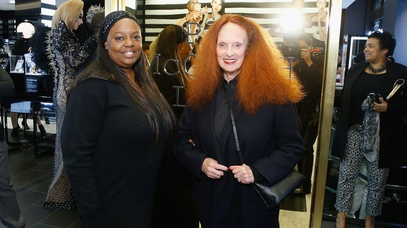 Mother on the left, Grace Coddington on the right