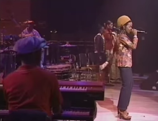 Lauryn Hill and her band members in 1999YouTube screenshot