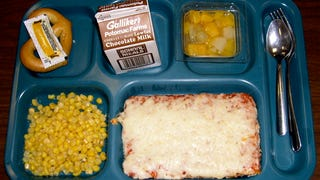 I Can't Stop Reading High School Lunch Menus