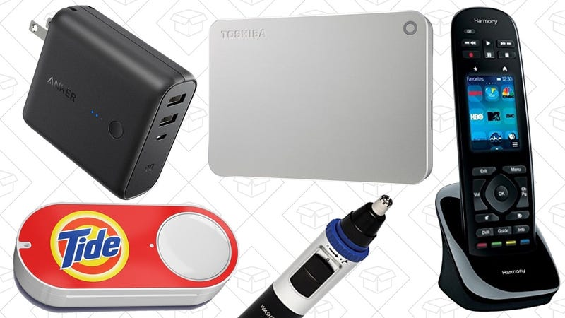 Illustration for article titled Today's Best Deals: Hard Drive Gold Box, Anker PowerCore Fusion, $1 Dash Buttons, and More