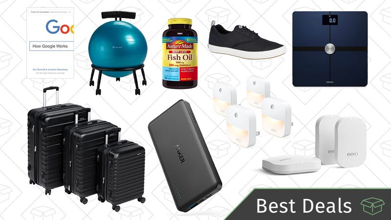 Illustration for article titled Wednesday's Best Deals: Smart Scale, Wi-Fi Routers, Dyson Vacuum, and More
